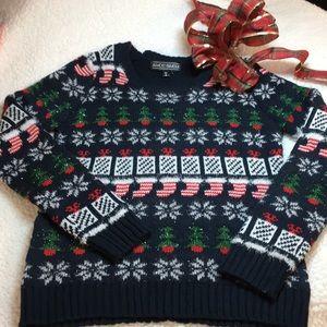 Christmas pretty ugly sweater small EUC